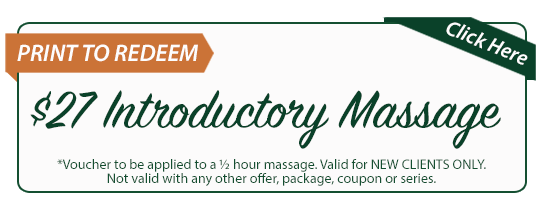 massage specials coupon of $27 Introductory Massage from HMWC