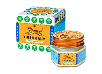 Tiger Balm massage oil from Holistic Massage